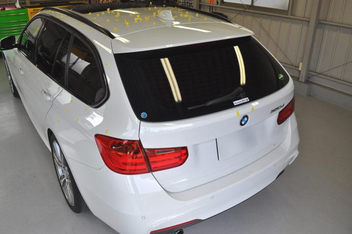 BMW320dひょう害