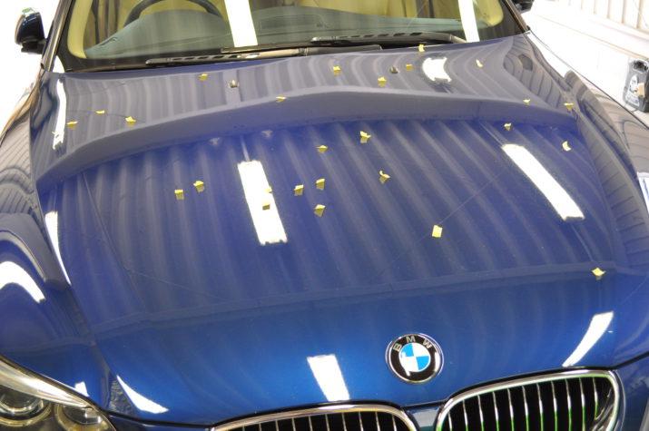 BMW 525I ひょう害修理 ボンネット
