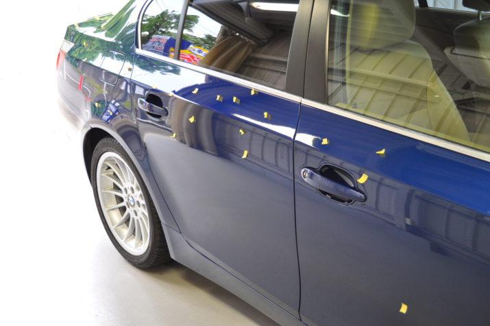 BMW 525I ひょう害修理 ドア